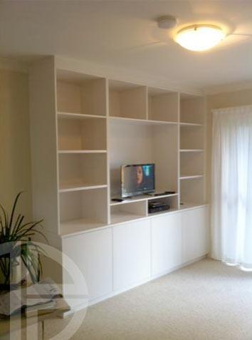 Open shelves cabinet low doors