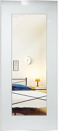 White Glass Mirror Insert
