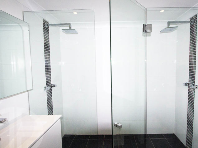 10mm frameless, hinged door system