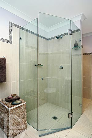 10mm frameless shower screen hinged door system