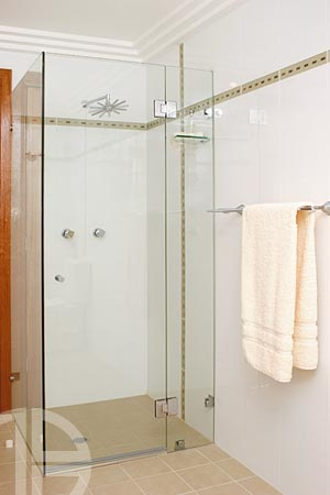 10mm frameless shower screen, hinged door system