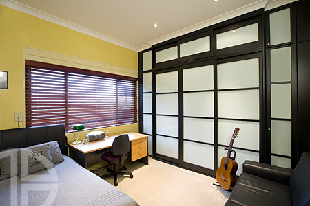 Bayswater-Thermoform Black Texture/White Glass Sliding & Hinged Doors